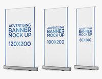 roll banners 3 1 3D model