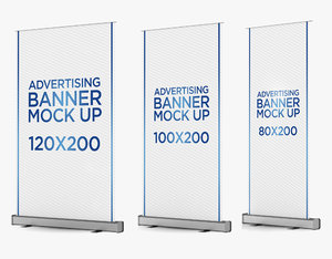 roll banners 3 1 3D model