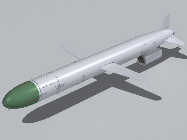 kh-55 missile 3d 3ds