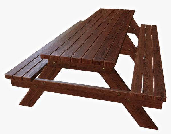 3d model bench arbor red