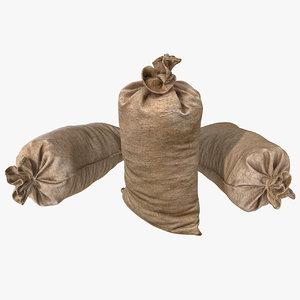3d model sack fabric