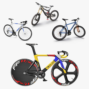 modern bikes rigged 2 3D