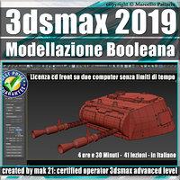 070 3ds max 2019 Modellazione Booleana v.70 cd front