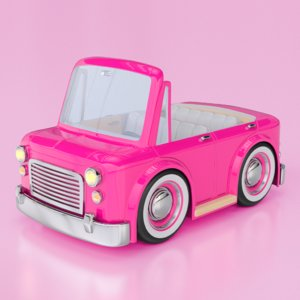 3d model cartoon car convertible