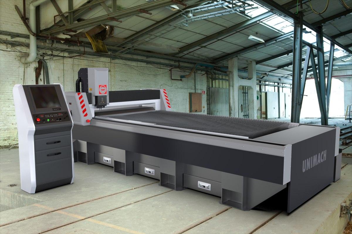 laser cutting machine metal 3d model