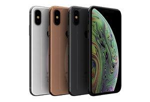 3D apple iphone xs color model