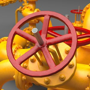 set industrial pipes model