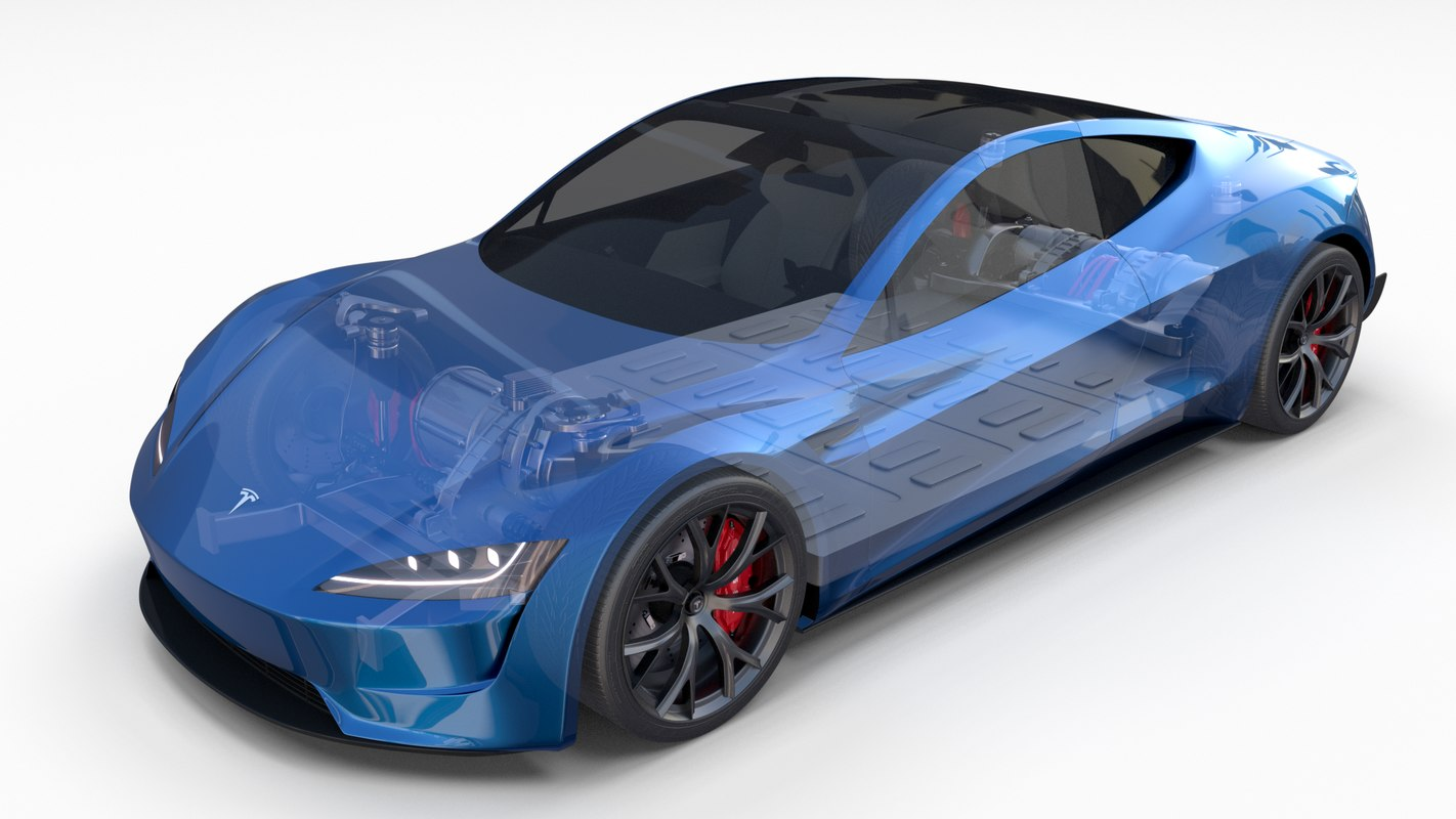 tesla roadster 2020 interior 3D model