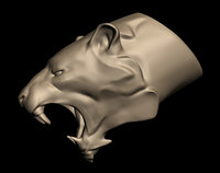 3D lion lioness model