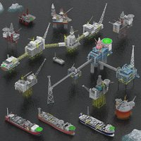 Oil rig, platform and FPSO pack
