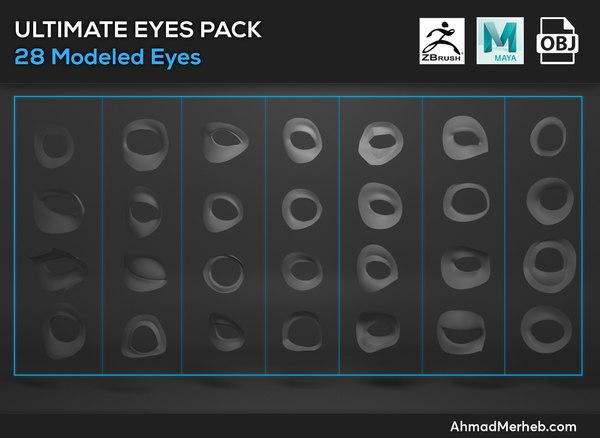 3d eyelids assets