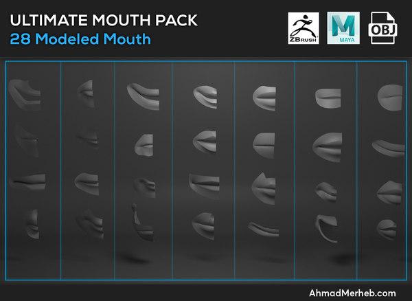 3d model mouth assets