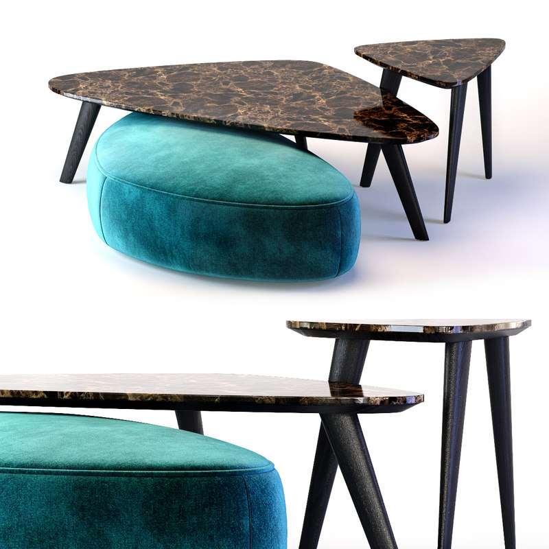 3D andre tables ottoman model