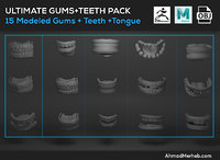 Gums and Teeth and Tongue Model Pack