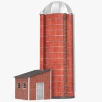 3D model farm silo