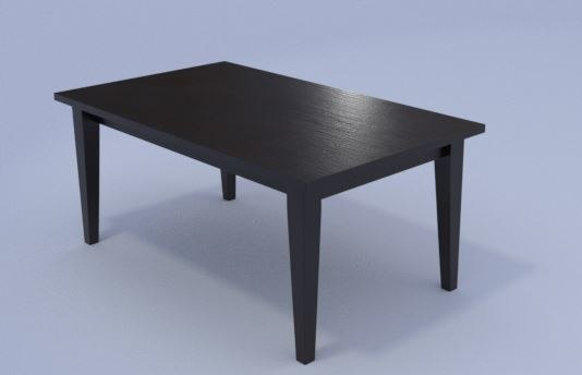3D table dining room 1 model
