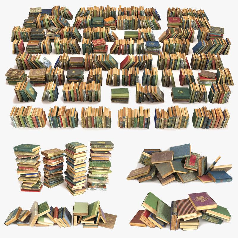 book large old 3D model