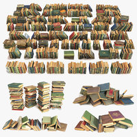 book large old 3D model