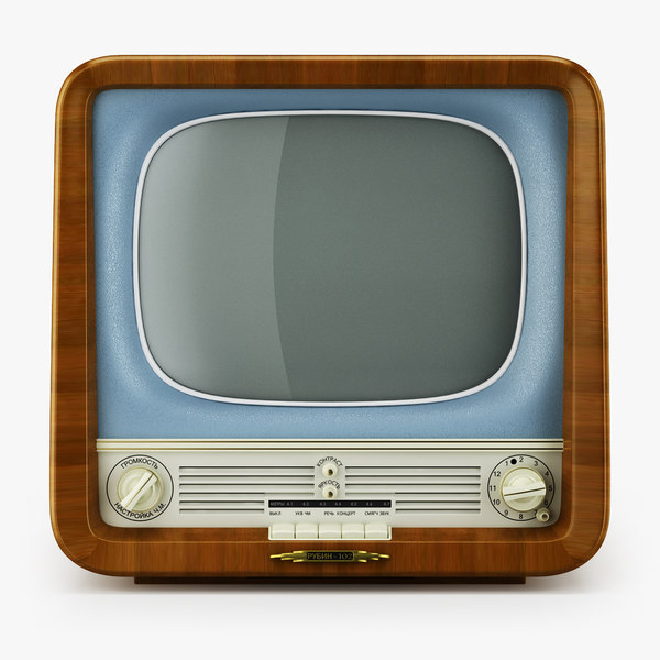 retro tv rubin 102 3D model