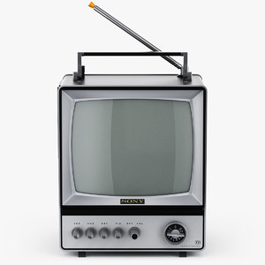 retro tv sony-9 3D model