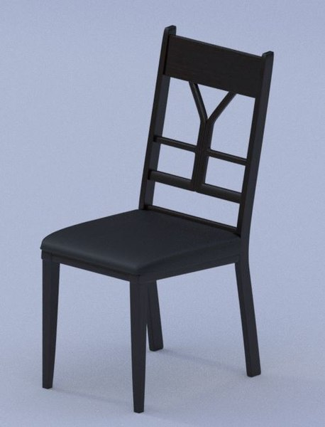 3D model chair interior dining