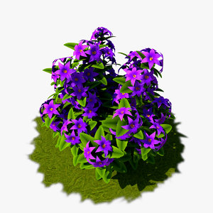 3D flower cartoon