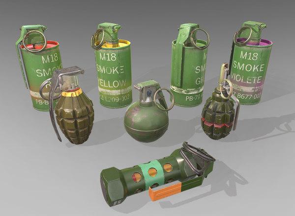 grenade f1 m67 3D model