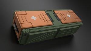 3D military crate sci fi model