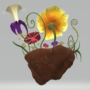 flower world 3D model