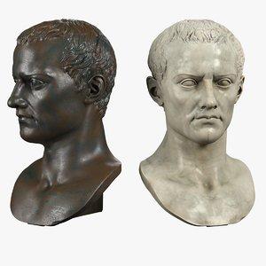 3D decorative bust roman