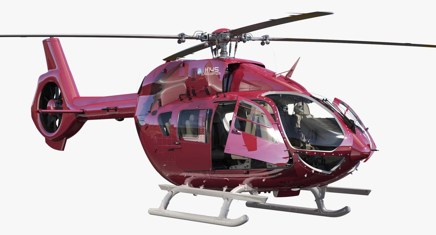 airbus helicopters h145 cockpit 3D model