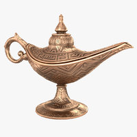 3D aladdin magic lamp vintage
