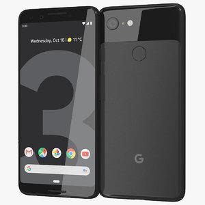 realistic google pixel 3 3D