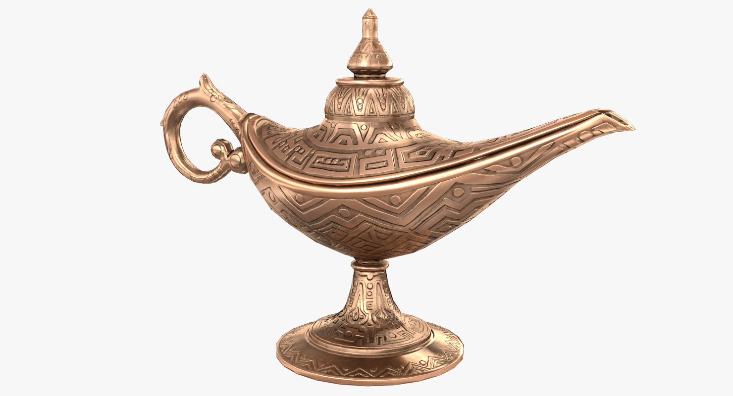 3D aladdin magic lamp vintage