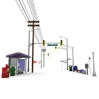 grimtoon street 3D model