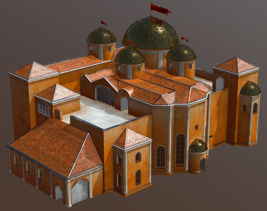 3D fantasy house medieval model