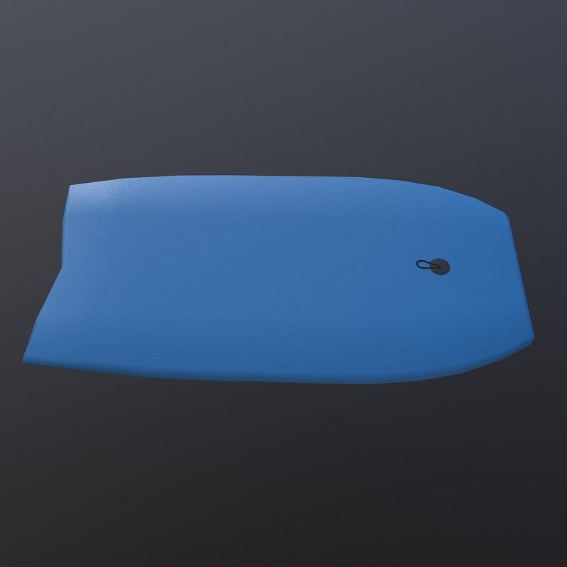 3D model bodyboard beach prop
