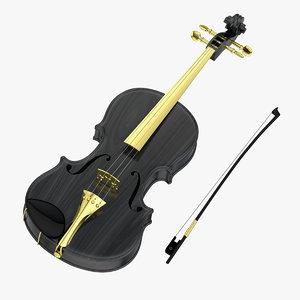 3D bow viola