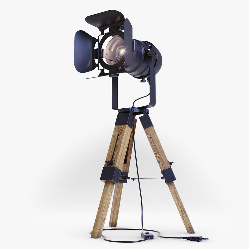 3D projector floor lamp model