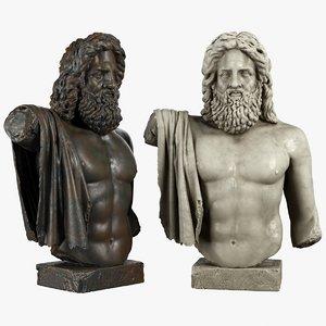 zeus sculpture 3D