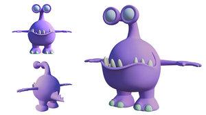 3D monster animation model