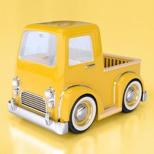 obj cartoon pick truck