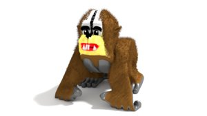 3D chipmunk gorilla model
