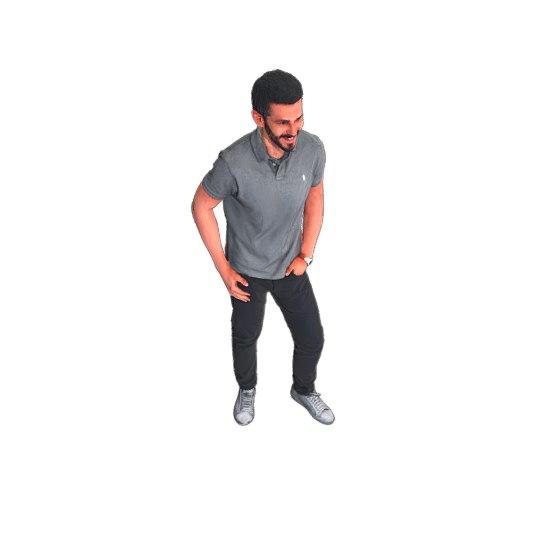 cool guy standing 3D model
