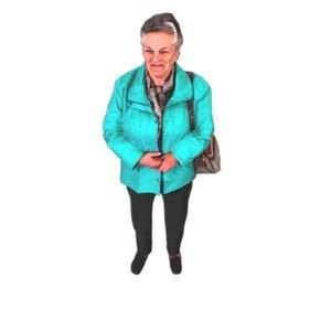 elderly lady standing 3D
