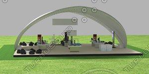 3D model party tent details