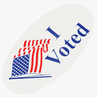 3D model voted sticker