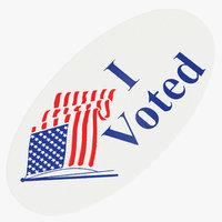 3D model voted sticker