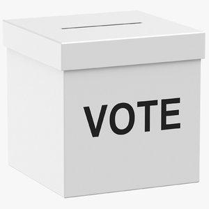 voting box 3D model