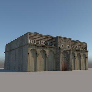 3D medieval inn